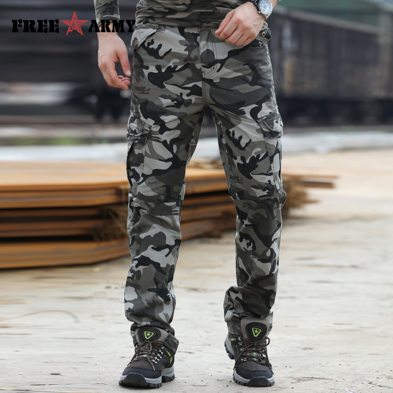 2018 Fashion Military Tactical Pants Brands Men Winter Track Pants Casual Compression Pants Men Military Pockets Pants Mk-7156B