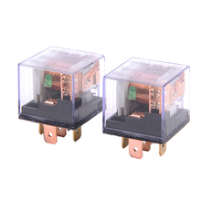 2 piece 80A Double Contact Transparent Shell Relay Automotive Control Devices Fast Connection Socket Type(China)