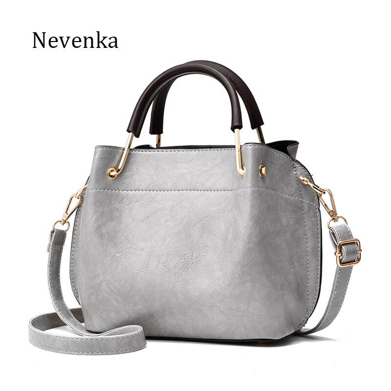 Nevenka Brand Luxury Women Handbag Pu Leather Fashion Flap Female Casual Small Bag Solid Pleated Shoulder Bags Tote 2017 Women<br>