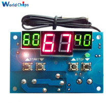 Automatic Adjustment! W1401 LED Digital Thermostat Temperature Controller -9-99C Thermostat Module 12V DC/220V AC + NTC Sensor