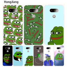HongJiang Internet Meme Smug Frog Pepe case phone cover for LG G5 G6 G4 G3 S MINI K10 K7 K4 Spirit magna beat(China)