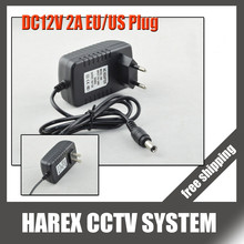 DC 12V 2A Power Supply Adaptor 12V Security professional Converter EU / US Adapter For CCTV Camera CCTV system , free shipping(China)