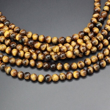 Wholesale Hot Sale Natural Stone Yellow Tiger Eye Beads Pick Size: 4 6 8 10 12 mm Free Shipping(China)