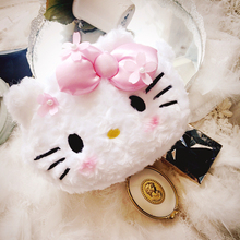 Cartoon Cute Hello Kitty make up Bags Melody Bowknot Evening Bag Makeup Bag Sweet Clutches Lady Wedding Purse Storage Package