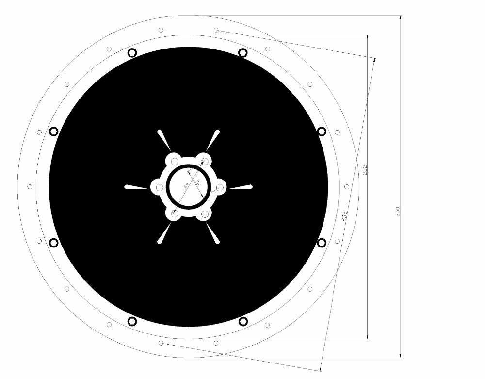 500W,750W,1000W Rear Motor Drawing-2