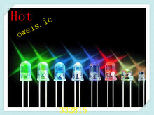5colors x 200pcs=1000pcs F5 F5MM 5MM WATER CLEAR WHITE,BLUE,GREEN,YELLOW,RED SHORT LEG LAMPS FREE SHIPPING(China)