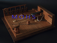 2016 NEW wooden scale model scale ancient warship quarter deck 8 pound cannon scene scale wooden military sailing ship models