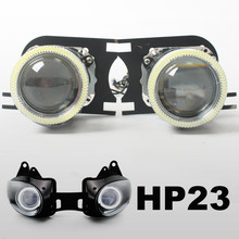 KT Motorbike HID Projector lenss Suitable for Kawasaki Ninja ZX-6R ZX6R 2007-2008  Angel Halos Eyes  Lights