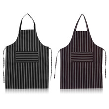 2 Colors stripes Apron for Men Women Print Personalized Chef Aprons Sleeveless Restaurant Kitchen Aprons(China)