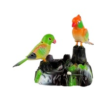 sound control parrots ornament birdcall, move parrot about 20x25cm,home desk decoration creative toy gift a2098(China)