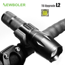 NEWBOLER Bicycle Light 5 Mode XM-L2 LED Bike Light Front Torch + Holder Waterproof 3800 Lumens Led Rechargeable Flashlights USB(China)