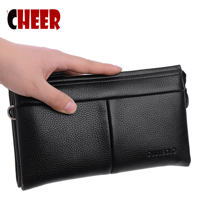 wallets men wallet leather genuine purse for coins clutch men Admission package High capacity Multi-bit luxury Casual Clutch<br><br>Aliexpress