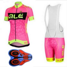 Buy Ropa Ciclismo Cycling Jersey 2017 ALE Women mujer bike shirts bib shorts set summer quick dry MTB bicycle clothing bicicleta J11 for $15.63 in AliExpress store