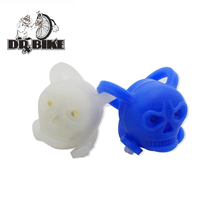 Drbike Blue White Skull Brillant Waterproof Warning Cycling Light Well-Designed Bicycle Front Light Rear Tail Lamp(China)