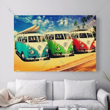 Bulli Bus Travelling Canvas Art Print Painting Poster Wall Pictures For Room Home Decoration Decor No Frame(China)