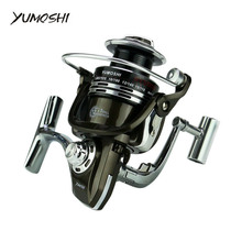 All metal spinning fishing reel BY 12+1BB gapless full metal High hard aluminum alloy Spinning wheel type fishing wheel(China)