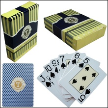 Texas Poker Set Blue Plastic Playing Card Adult Playing Cards Waterproof Playing Cards 54 Card Poker Entertainment Board Games(China)