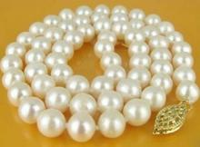 ELEGANT 9-10MM AKOYA AAA SOUTH SEA WHITE PEARLS NECKLACE 18 INCH Jewelery