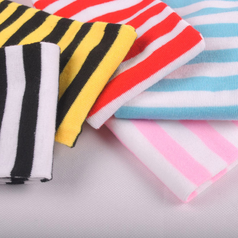 Polyester Fashion Stripe Beauty Tights, Stockings, Multicolor Knee-high Women Sweet Cute Girls Stockings 4