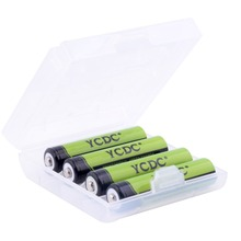 YCDC Green 4x AAA Cell High Volume Rechargeable Battery 1000mAh 1.2V For Cameras Flashlight CD/MP3 players + Free Battery Case