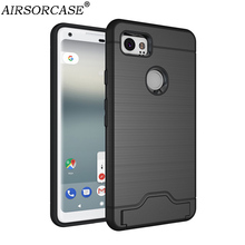 For Google Pixel 2 Case for Google Pixel XL 2 Cover Kickstand Card Pocket Back Cover Hard PC & TPU Hybrid Mobile Phone Cases(China)