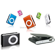50pcs Mini Clip MP3 Player Cheap Colorful Support mp3 Players with Earphone, USB Cable, Retail Box, Support Micro SD/TF Cards