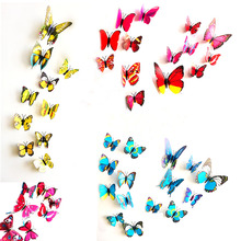 3D Butterfly Design Art Decal Wall Stickers Bedroom Decor Home Accessories 12Pcs(China)