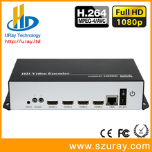 Best MPEG4 H.264 4 Channels HDMI To IP Video Encoder IPTV 1080P 1080I Live Broadcast Encoder With HTTP HLS UDP RTP RTMP(China)