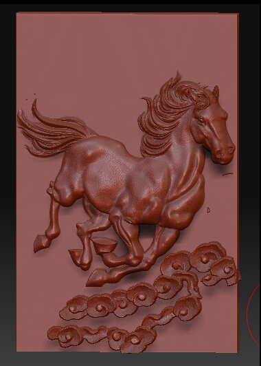 3d model relief for cnc in STL file format Horse pendant<br><br>Aliexpress