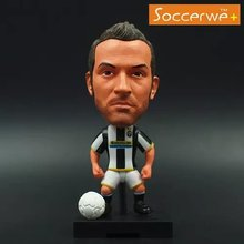 "Soccerwe+ Soccer Player Movable Dolls 10# DEL PIERO (JUV +2009) 2.5"" Figurine"