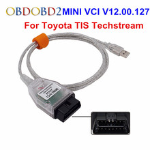 Best Quality V12.00.127 MINI VCI Interface For Toyota TIS Techstream MINIVCI FT232RL Chip J2534 OBDII OBD2 Diagnostic Tool(China)