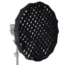 Andoer 60cm Folding Collapsible Beauty Dish Softbox with Honeycomb Grid Bowens Mount for Studio Strobe Flash Light