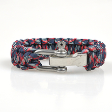 Braided Pulseras Outdoor Camping Rescue Paracord Bracelets Parachute Cord Men Bracelet Emergency Rope Survival Buckle Wholesale