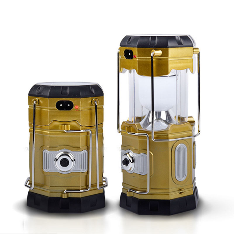 2 in 1 Solar Rechargeable LED Camping Lantern Flashlight Portable Outdoor Survival Lamp for Hiking Fishing Tent Emergency Outage<br><br>Aliexpress