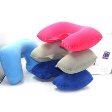 Inflatable Soft Car Travel Head Neck Rest Air Cushion U Concave Pillow Plane Flight Sleep Pillows Muclticolors