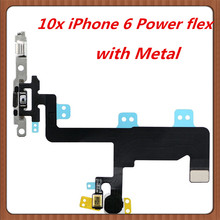 10pcs  Power Flex Cable for iPhone 6  Switch On Off  Ribbon  Flex  Cable  Sensor Proximity  flex cable   replacement