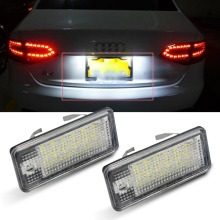 2pcs LED License Plate Light 12V SMD for Audi Q7 A3 S3 S4 B6 A6 C6 A8 S8 for RS4/Avant quattro for RS6 plus/Avant RS4/Cabriolet