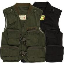 Men's Vest Jacket Army Tactical Waistcoat Male Fashion Jacket M-3XL Multi Pockets Army Uniforms Two Colors