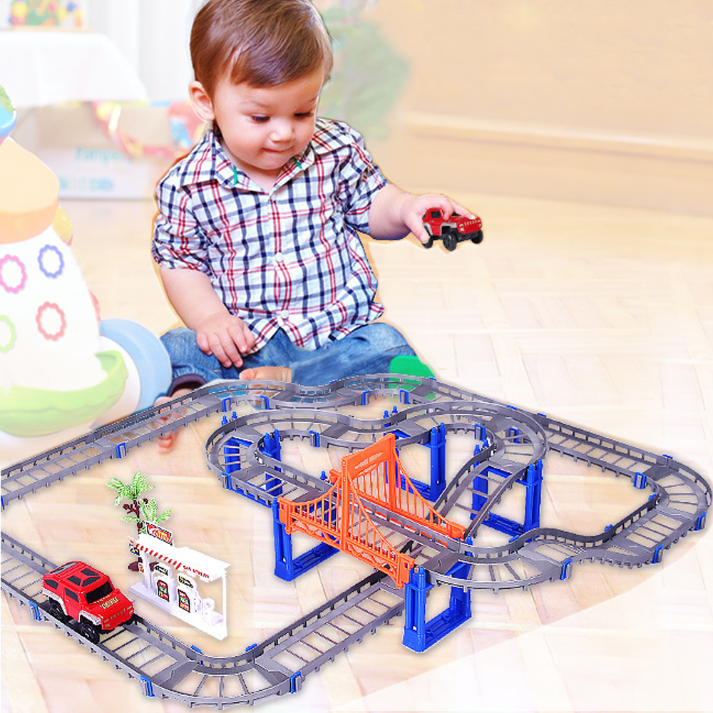 Parent-children Interaction 73PCS/set Thomas Tracking Building Kits Toy for Kids Race Track Model & Electric Speed Car 1/32(China)