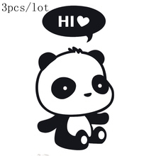 Wall sticker DIY poster Panda Stickers wall stickers funny wall stickers for kids rooms home decor wall decals 3 choice 3pcs