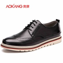 AOKANG Brand 2017 New Fashion Style Men Dress Shoes, Oxford Shoes For Men, Lace-Up Men Shoes, Casual Men Oxford(China)