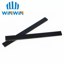 10pcs 40 Pin Single Row Straight Female Pin Header Connector Strip for Arduino High Quality 2.54mm Black OH