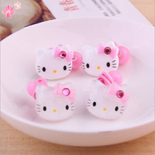 Hair Rope Fashion Hair Accessories Red Kids Cat Headwear Cartoon Hello Kitty Elastic Hair Bands