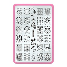 2016 nail stamping plates Nail Art Konad Polish Stamping Manicure Accessories Kit All New Designs Ethnic Wind Wave(China)