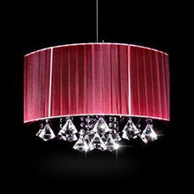 Creative personality Wire Drawing Hanging light modern oval luster K9 crystal Chandeliers Living room with room lights(China)