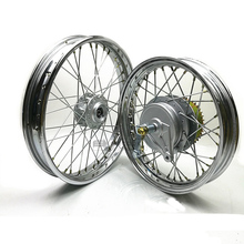 CG125/GN125/GN250 Front Rear 2.15x16/17/18 Spokes Motorcycle Wheel Rims With Brake Sprocket Hub