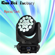 8pcs/lot cheap disco stage lighting equipment 19*12W RGBW led zoom moving head wash light for dj equipment