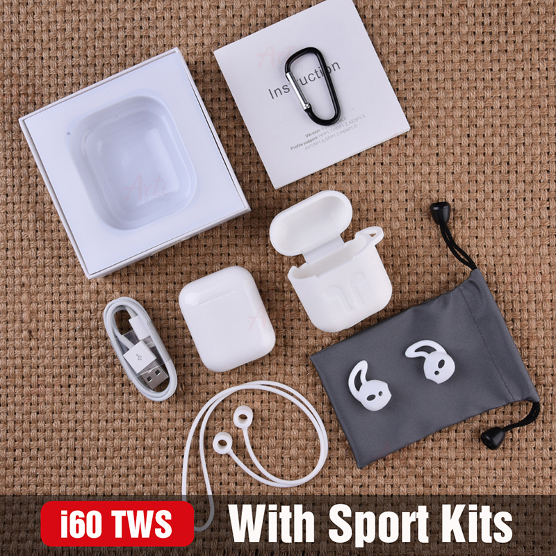 i60 TWS Original 11 Size Pop-up Wireless Headphones Air Bluetooth Earphone PK i30 i10 i12 i20 TWS Headset W1 Chip Earbuds Pods 11)