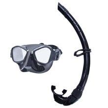 adc6b572c YaHey Máscara de Mergulho Desportos Aquáticos Mergulho Vidro Temperado  Lentes Anti-fog De Natação Mar