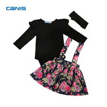 Spring & Autumn & Winter Newest Fashion Cute Cotton Flower Girl Overall Dress Kids Baby Party Pageant Lace Tulle Tutu Dresses(China)
